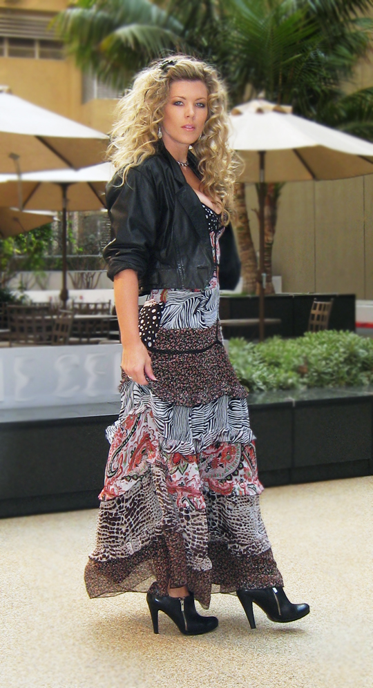 bebe-long-maxi-animal-print-floral-dress-leather-3