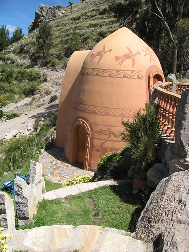 Gaudi-inspired organic home, at lake Titicaca