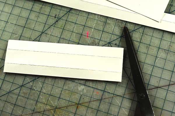 fold to create one long i-bar