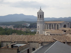 Gerona - Sobre la muralla (Catedral)