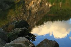Cloud reflection... (rolfspicture) Tags: light cloud mountain lake reflection water rocks natur sauerland