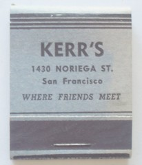 KERR'S SAN FRANCISCO CALIF. (ussiwojima) Tags: sanfrancisco california advertising matchbook kerrs matchcover