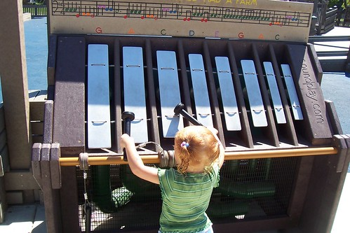 Xylophones are popular at Hillcrest Community Park in Concord.  Photo by Brenna Shafizadeh