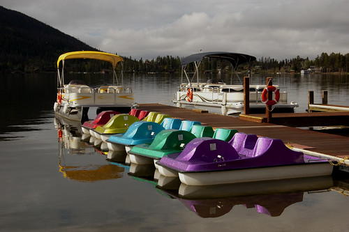 Paddleboats on Grand Lake