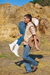 Love Story (1-35) ([]NEEL[]) Tags: boy horse woman sun man love girl field hat forest cowboy shiny boots pair country meadow jeans hay lovestory sunshining