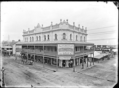 Old Municipal Building, Hunter Street, Newcastle, NSW, [28 April 1891] (Cultural Collections, University of Newcastle) Tags: newcastle australia bookstore nsw marketstreet farley lancer stationers musicacademy carrington marketst mcdonnell clothingstore 1891 hunterstreet localgovernment hunterst ralphsnowball snowballcollection ralphsnowballcollection municipalbulding asgn0765b36 harrysteggaco harrystegga stegga rlancersbooksandstationary rlancer farleysvocalacademy vocalacadamy amcdonnell carringtonclothingstore newcastlemunicipalbuilding newcastleregionnswhistorypictorialworks photographynewsouthwalesnewcastle