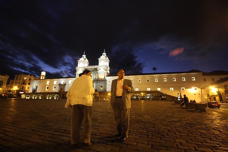 Quito wieczorową porą