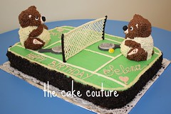 39. Tennis Birthday Cake (The Cake Couture (is currently not taking any orde) Tags: birthday bear party cake chocolate tennis teddybear  doha qatar                     thecakecouture