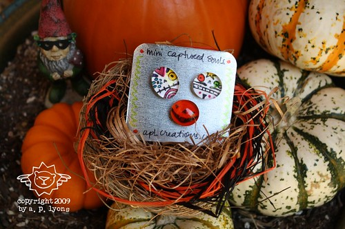 mini captured souls magnets - jol and sugar skulls {set f}