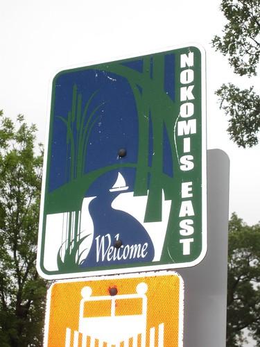 Nokomis East Welcome Sign