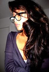 haircut soon plz? (lalalalizzy) Tags: girl asian glasses vietnamese longhair cardigan lizzy