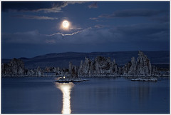 Moon Over Mono Lake (glness) Tags: california ca moon lake water reflections salt fullmoon moonrise yosemite monolake harvestmoon saline easternsierras leevining tufas nothdr southtufas canonef100400mmf4556lis canon5dmarkii gregness