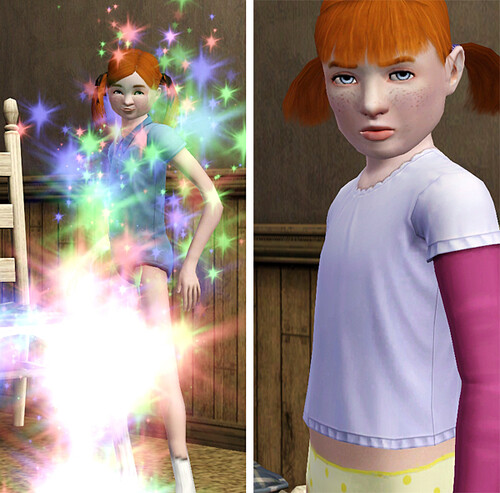 Penny ages to a child and it's somewhere between terrifying and awful