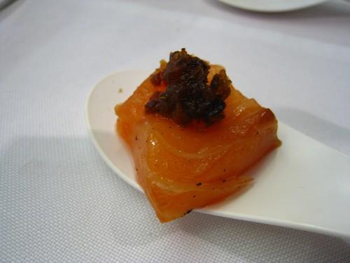 Smoked Salmon with Bak Kwa XO Sauce