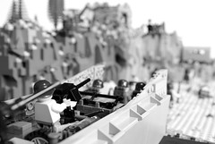 Fox Red - Omaha Beach (3) (Dunechaser) Tags: beach lego jeep wwii landing worldwarii dio ww2 omaha landingcraft normandy dday mb invasion diorama willys beachhead lcvp higginsboat foxred lefh18