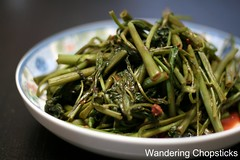 Rau Muong Xao Toi Chao (Vietnamese Stir-Fried Water Spinach with Garlic and Fermented Bean Curd) 1
