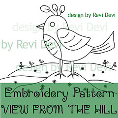 View From The Hill (revi1001) Tags: bird nature animal illustration birdie diy pattern etsy outline homedecor whimsical revi1001