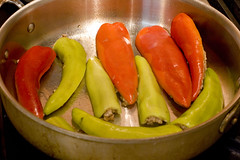 stuffed peppers in pan 1