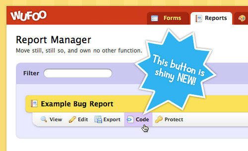 New Code Manager for Reports!