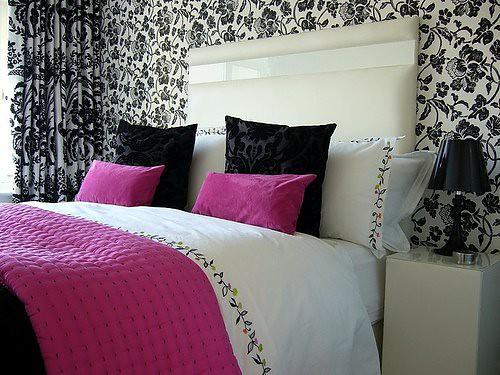 Gudu Ngiseng Blog: Black And Pink Wallpaper For Bedrooms