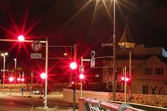 Too Many Red Traffic Lights (tarmo888) Tags: city longexposure sign funny europe estonia nightshot illuminated linn casioexilim eesti tartu estland  redcolor photoimage sooc punane mrk tartumaa gisteqphototrackr exf1 geosetter year2009 geotaggedphoto foto