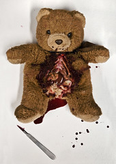 (tovebianca) Tags: teddy teddybear anatomy 2009 guts intestines djur beckmans anatomi