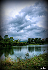 HDR: Rough reflection (Taqirumi) Tags: trees lake reflection water canon jungle rough vignette hdr