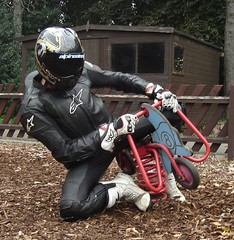 biker (skintightj2009) Tags: male guy leather pants guys suit biker alpinestars smxplus