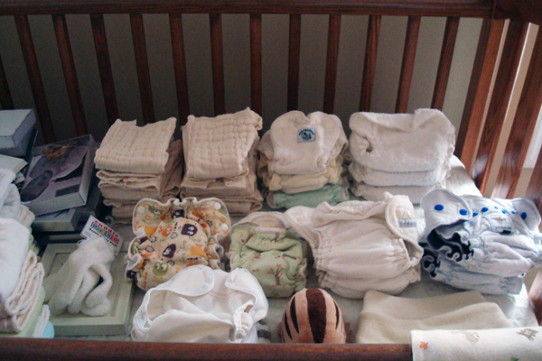 11-24 newborn cloth diaper stash