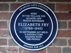 Photo of Elizabeth Fry blue plaque