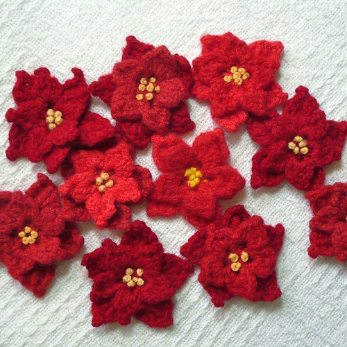Poinsettia Pins
