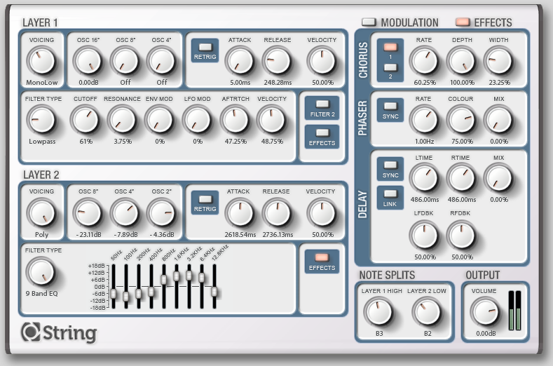 Loomer String Synthesizer AU RTAS VST Plugin