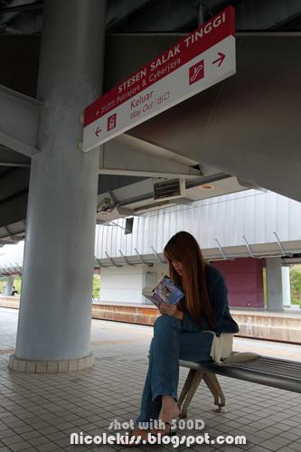 waiting at salak tinggi station