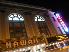 Hawaii Theater (jericl cat) Tags: sign vertical night facade marquee hawaii theater neon chinatown historic neighborhood honolulu artsdistrict