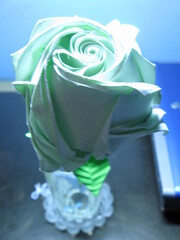 Green Rose Close up -  2008 (The Gift of Gifts) Tags: flower art leaves rose paper stem origami happiness gift thankful grateful kindness kawasaki sincerity kawasakirose paperrose diamondrose origamiflower origamirose  artrose rosasdepapel  livrerose  happinessrose papierrose giftofgifts giyhng giftofgift giftofgiftsrose  rosadicarta piparardaigh roseenpapier papierstieg papprrose   paprovre thegiftofgiftsrose thegiftofgiftrose papierrosen    rosedicarta  kertasmawar katgller  papirrua paprrzsa  letrrose raamatrose piparrose    cartearose rose karatasirose papperrose papurrose