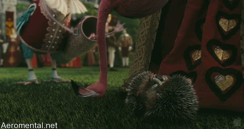 Alice in Wonderland flamingo hedgehog