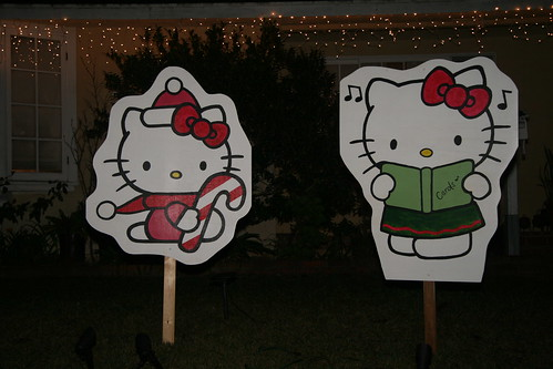 Hello Kitty Christmas Lawn Decorations