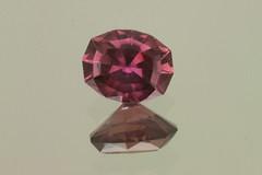 Merlot Umba Sapphire (Peter Torraca) Tags: red tanzania purple oval gem sapphire gemstone umba