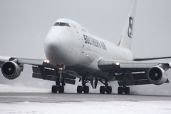 Southern Air B747 (Kris Klop) Tags: storm ice plane airplane fly flying airport aircraft aviation flight 747 b747 747200 southernair