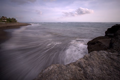 New Year in few days (Helminadia Ranford(New York)) Tags: bali seascape motion beach water rocks mengening
