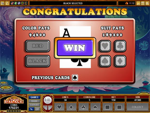 free The Adventures of Galactic Gopher gamble bonus game