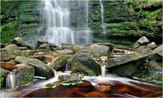 Waterfall,Black Clough, Peak District (Allan R Chapman) Tags: summer blur green water stone closeup woodland landscape waterfall rocks stream view derbyshire peakdistrict pebbles pools ripples d300 nikon1755mmlens