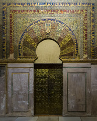 Mosque Cathedral of Cordoba  261015-3432 (Eduardo Estéllez) Tags: mosque cordoba islamic spain door islam cathedral andalusia interior mezquita spanish travel church moorish monument temple muslim tourism europe religion landmark decorated arch unesco decoration gate art arabic golden mihrab world architecture building culture ancient history indoor white city tradition estellez eduardoestellez