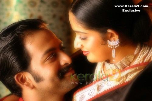 Actress Kavya Madhavan and actor Prithviraj in the movie  Ananthabhadram