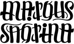 """Markus"" & ""Sabrina"" Ambigram"