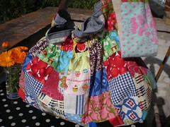 Henriette's bag (NotYetTheDodo) Tags: bag handmade sewing fabric hippie patchwork owndesign firstattempt