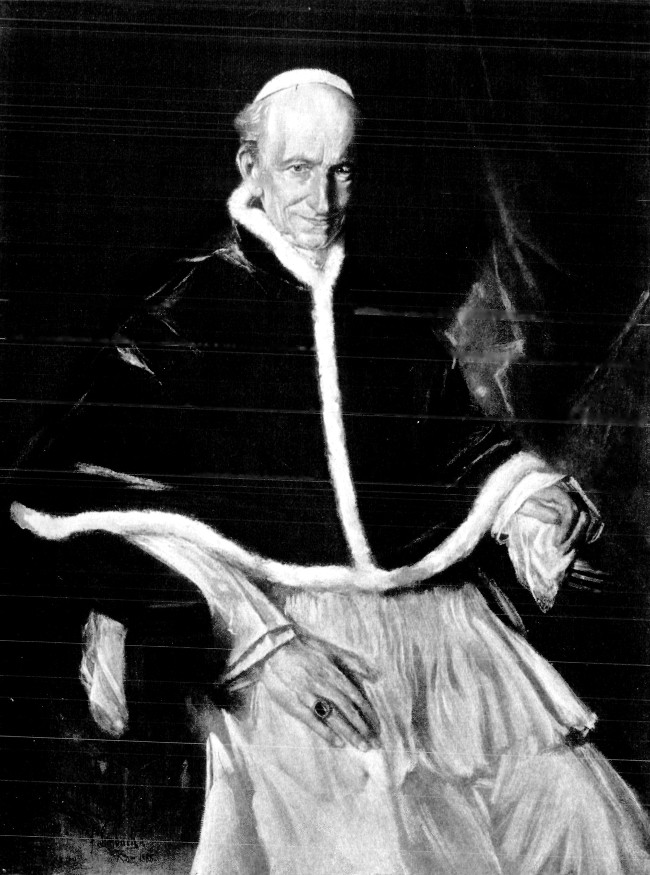 Pope Leo XIII. From the Portrait by Lenbach