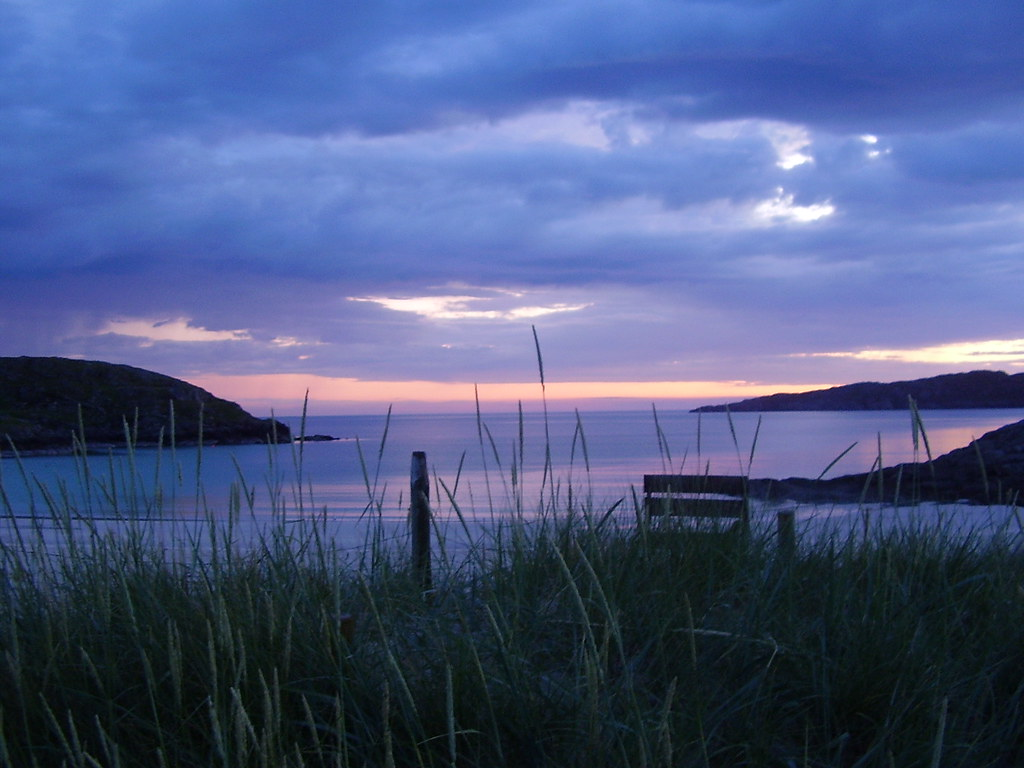Sunset at Achmelvich Bay
