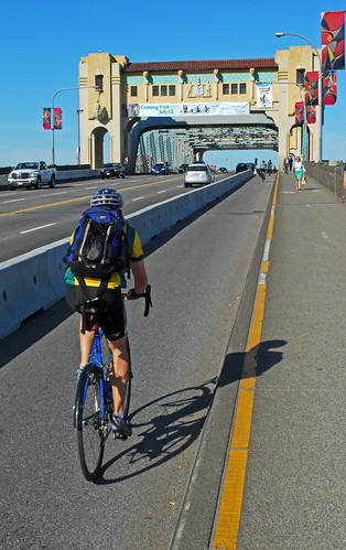 Burrard Bridge bike lanes