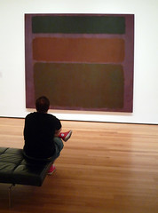 Mark Rothko, No. 16 (Red, Brown, and Black) with viewer